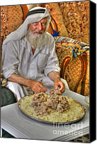 David Birchall Canvas Prints - Mansaf Canvas Print by David Birchall