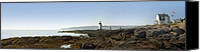 Ocean Scene Canvas Prints - Marshall Point Lighthouse - Maine Canvas Print by Mike McGlothlen