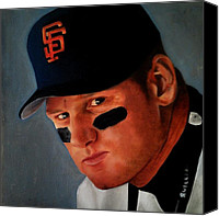 Gold Glove Canvas Prints - Matt Williams Canvas Print by Jena Rockwood