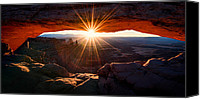 Southern Utah Canvas Prints - Mesa Glow Canvas Print by Chad Dutson