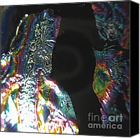 Black Glass Art Canvas Prints - Metallic Canvas Print by Gaby Tench