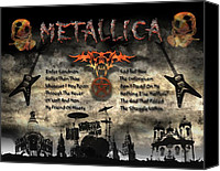 Michael Damiani Canvas Prints - Metallica  Canvas Print by Michael Damiani