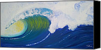 Wave Special Promotions - Mighty Wave Canvas Print by Carol De Bruyn