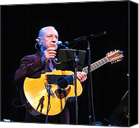 Melinda Saminski Canvas Prints - Mike Nesmith in Concert at Town Hall Canvas Print by Melinda Saminski