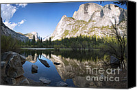 Forest Canvas Prints - Mirror Lake Yosemite Canvas Print by Jane Rix