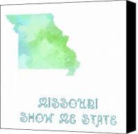 Abstract Map Canvas Prints - Missouri - Show Me State - Map - State Phrase - Geology Canvas Print by Andee Photography