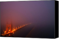 Dark Canvas Prints - Misty Golden Gate  Canvas Print by Francesco Emanuele Carucci