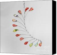Featured Sculpture Canvas Prints - Modern Mobile - Rose Petals Canvas Print by Carolyn Weir