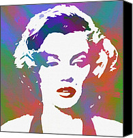 Marylin Canvas Prints - Monroe goes Pop Canvas Print by Stefan Kuhn