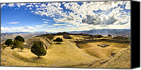 Mark Tisdale Canvas Prints - Monte Alban Zapotec Panorama Canvas Print by Mark E Tisdale