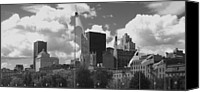 Ann Powell Canvas Prints - Montreal Skyline BW Canvas Print by Ann Powell