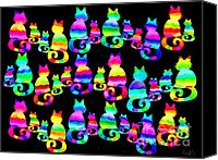 Nick Gustafson Canvas Prints - More cats cats cats Canvas Print by Nick Gustafson