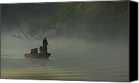 Goose Canvas Prints - Morning Fisherman Canvas Print by Everet Regal