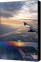 Jenny Rainbow Canvas Prints - Morning Flight over Netherlands 1 Canvas Print by Jenny Rainbow