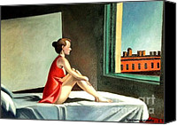 Morning Special Promotions - Morning sun after E.Hopper Canvas Print by Kostas Koutsoukanidis