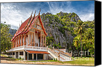 Thai Canvas Prints - Mountain Temple Canvas Print by Adrian Evans