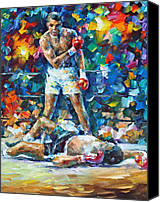 Glove Painting Canvas Prints - Muhammad Ali Canvas Print by Leonid Afremov