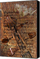 Phyllis Denton Canvas Prints - Music Collage Canvas Print by Phyllis Denton