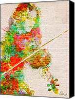 Mixed Media Digital Collage Canvas Prints - Music In My Soul Canvas Print by Nikki Marie Smith