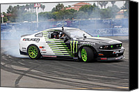 Race Pyrography Canvas Prints - Mustang Drifting Canvas Print by Shoal Hollingsworth