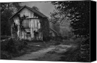 White Barns Canvas Prints - Mysterious Canvas Print by Bill  Wakeley
