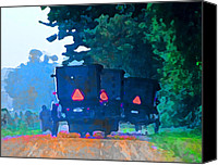 Amish Community Digital Art Canvas Prints - Nascar Buggies  III Canvas Print by Lisa Noneman