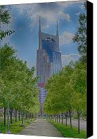 Nashville Skyline Canvas Prints - Nashville Batman Building Canvas Print by Dan Holland