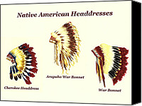 American Special Promotions - Native American Headdresses Number 2 Canvas Print by Michael Vigliotti