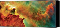 Colorful Canvas Prints - Nebula Cloud Canvas Print by The  Vault