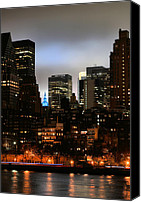 New York City Police Canvas Prints - New York City Blue Canvas Print by JC Findley