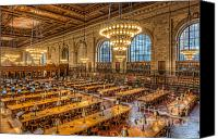 Big Apple Canvas Prints - New York Public Library Main Reading Room IX Canvas Print by Clarence Holmes