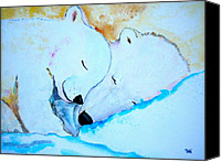 Storybook Mixed Media Canvas Prints - Night Night Canvas Print by Debi Pople