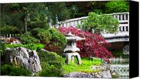 Spokane Special Promotions - Nishinomiya Japanese Garden Canvas Print by Chris Heitstuman