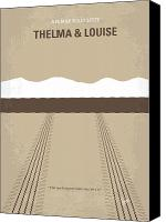 Thunderbird Canvas Prints - No189 My Thelma and Louise minimal movie poster Canvas Print by Chungkong Art