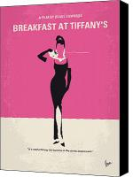 Breakfast Canvas Prints - No204 My Breakfast at Tiffanys minimal movie poster Canvas Print by Chungkong Art