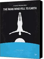 New Earth Canvas Prints - No208 My The Man Who Fell to Earth minimal movie poster Canvas Print by Chungkong Art