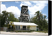 Melinda Saminski Canvas Prints - Observation Tower in Everglades City Canvas Print by Melinda Saminski