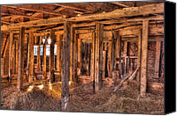 Matt Dobson Canvas Prints - Old Barn Beams Canvas Print by Matt Dobson