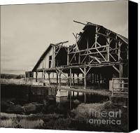 Old Abandoned House Canvas Prints - Old Barn Canvas Print by James Yang