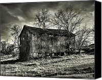 Ken Williams Canvas Prints - Old Barn Canvas Print by Ken Williams