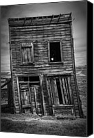 Abandoned Structures Canvas Prints - Old Bodie Building Canvas Print by Garry Gay