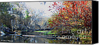 Barbara Bowen Canvas Prints - Old Florida along the Sante Fe River Canvas Print by Barbara Bowen
