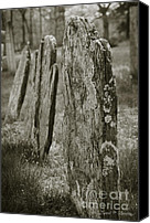 Location Digital Art Canvas Prints - Old Gravestones I Canvas Print by Dave Gordon