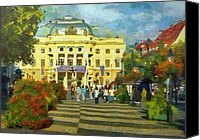 Austrian Canvas Prints - Old Town Square Canvas Print by Jeff Kolker