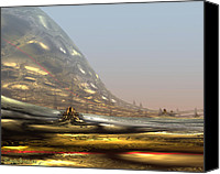 Signed Digital Art Canvas Prints - On the way to the Inner Tibet. 2013 80/64 cm.  Canvas Print by Tautvydas Davainis