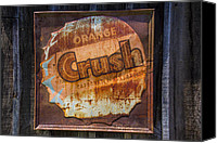Signage Photo Canvas Prints - Orange Crush Sign Canvas Print by Garry Gay