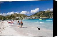 Surf Lifestyle Canvas Prints - Orient Beach in St Martin FWI Canvas Print by David Smith