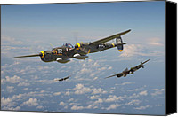 Warbird Canvas Prints - P38 Lightning - Pacific Patrol Canvas Print by Pat Speirs