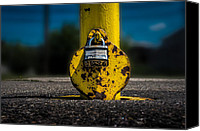 Safety Canvas Prints - Padlock Number Two Canvas Print by Bob Orsillo
