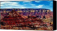 Cavern Canvas Prints - Painting The Grand Canyon National Park Canvas Print by Bob Johnston